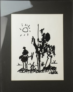 Framed Artwork Attributed To Picasso