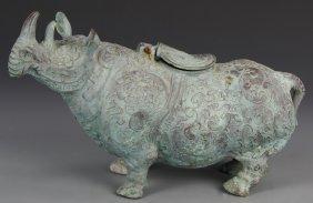 Chinese Bronze Rhinoceros