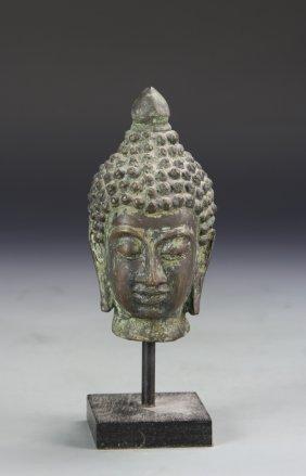 Chinese Bronze Buddha Head