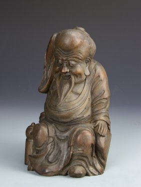 Chinese Carved Bamboo Shoulao