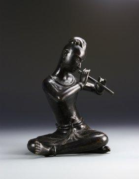 Asian Bronze Musician Figure