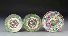 Chinese Three Famille Rose Plates