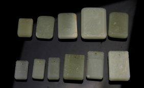 Chinese White Jade Pendants (11 Pc.)