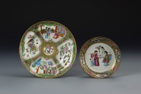 Two Chinese Rose Medallion Plates
