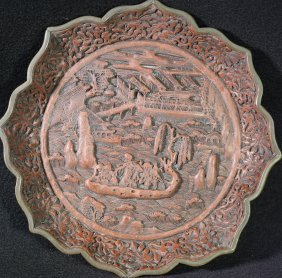 Chinese Qing Lacquerware Dish