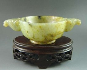Chinese Old Jade Brush Washer