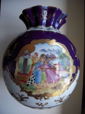 Chinese Western People Paintings Pomegranate Vase