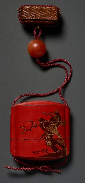 Inro With Pair Of Birds, Hako Netsuke