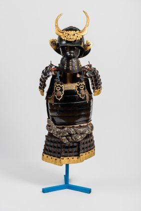 Armor Of A Samurai With Helmet