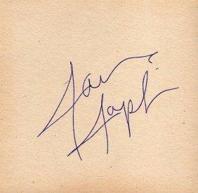 Janis Joplin Signed Paper.