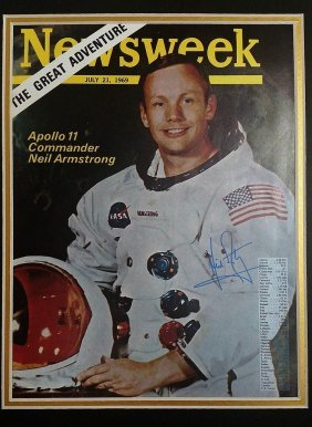 Neil Armstrong Signed Magazine.