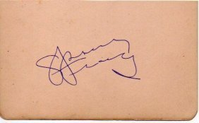 Spencer Tracy Signed Paper.
