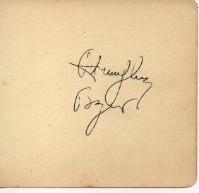 Humphrey Bogart Signed Album Page.