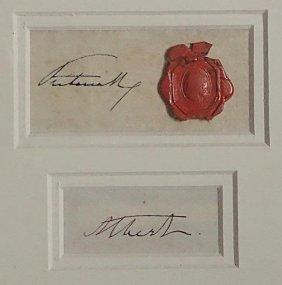 Queen Victoria/prince Albert Set Of Signatures.