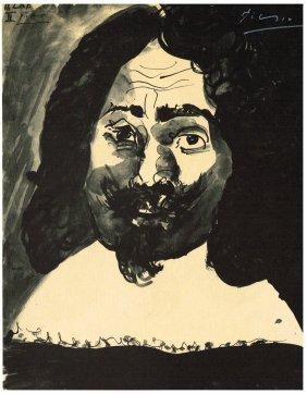 Pablo Picasso Signed 1969 'dessins' Print.