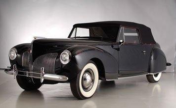 155 1940 lincoln zephyr continental cabriolet lot 155. Black Bedroom Furniture Sets. Home Design Ideas