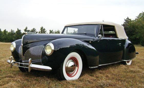 127 1940 lincoln zephyr continental cabriolet lot 127. Black Bedroom Furniture Sets. Home Design Ideas
