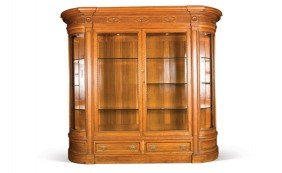 Fine Neoclassical Style Mahogany Display Cabinet