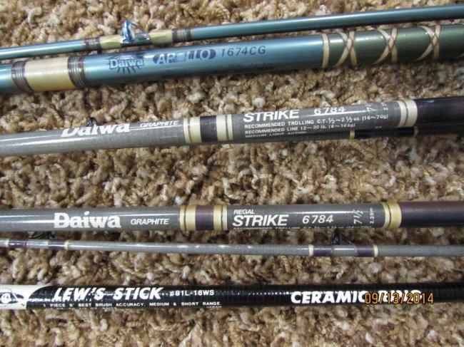 4 Graphite Fishing Rods Daiwa Apollo Strike Lew S Lot 294