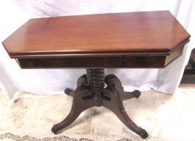 1815 Antique Boston Game Table Mahogany