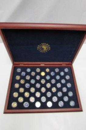 Us Quarter Set Wood Showcase Coins Morgan Mint