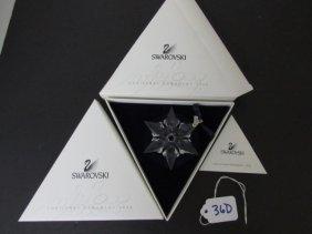 2000 Swarovski Crystal Christmas Ornament Nib