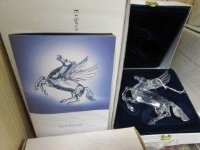 1998 Swarovski Crystal Pegasus Nib Stand Plaq