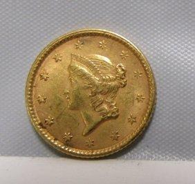 1853 Us $1 Dollar Gold Coin