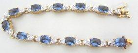Diamond Bracelet 14k Gold On Sterling Silver