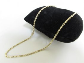 """7.3 Grams Gold Rope Chain 24"""" Necklace 10k"""