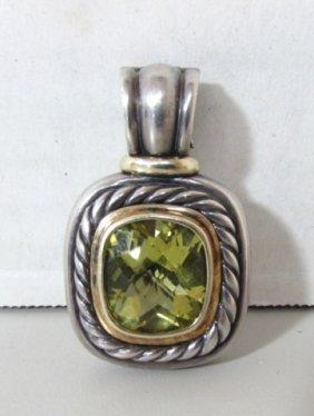 David Yurman 14k Gold Sterling Enhancer Pendant