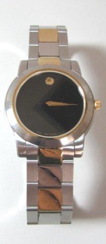 Movado 2 Tone Museum Watch Mans Wristwatch