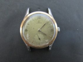 Stainless And Gold Omega Vintage Wristwatch