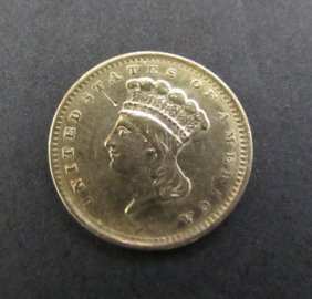 1856 Us $1 Dollar Gold Princess Coin