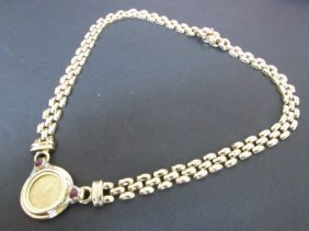 14k Gold Necklace + Us $5 Coin: 47 Grams