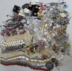 Costume & Sterling Silver Jewelry Lot