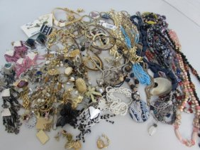 Huge Costume Jewelry Lot Necklace Bracelet