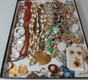 Costume Jewelry Lot Coro Scarab Lenox Bsk