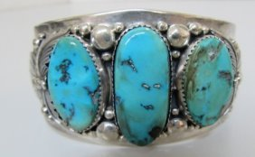 Timothy Lee Cuff Bracelet Turquoise Sterling
