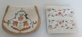 2 Beaded Purse Bag Wallets Walborg Belgium