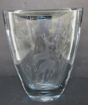 """10"""" Strombergshyttan Crystal Vase Stromberg"""