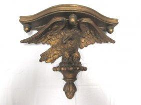 Eagle Wall Bracket Shelf Sconce Carved Wood & Gesso