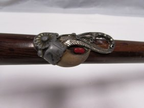 Bear Claw Wood Cane Walking Stick Diamond