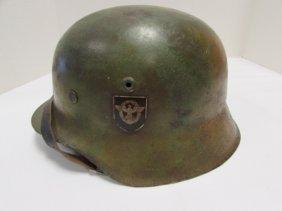German Nazi Camo Helmet Et 70