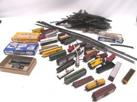 Toy Train Lot Track Truss Bridge N Gauge Cars Rr