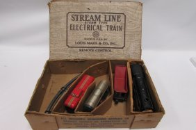 Marx Train Set Engine Cars Track In Box