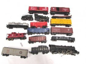 Toy Train Lot Engines Cars Pennsylvania M & Stl