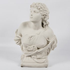 Parian Bust Of Young Woman