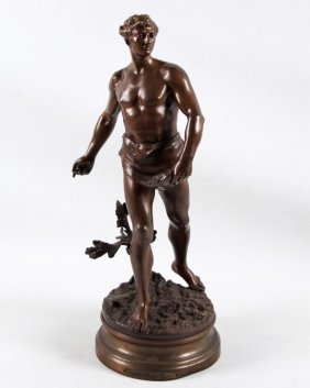 Gaudez, French Bronze Sculpture Of A Man