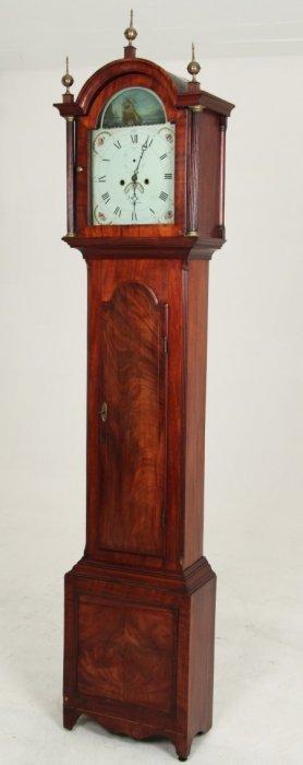 John Sly Weymouth Georgain Mahogany Grandfather Clock
